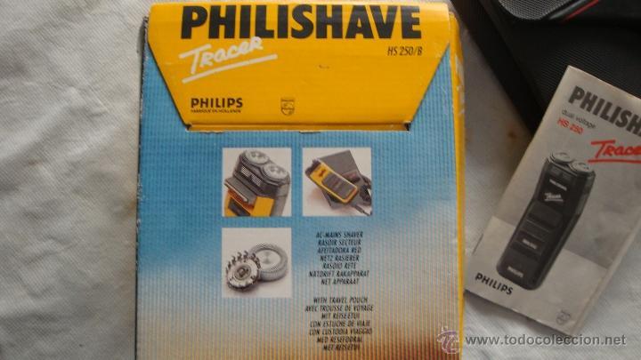 Antigüedades: Antigua Maquinilla electrica de afeitar Phillips años 70 - 80 en su caja original FUNCIONA - Foto 7 - 41849886