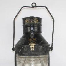 Antigüedades: FAROL MARITIMO DE POSICION. RECONVERTIDO EN LAMPARA. SEAHORSE TRADE MARK. GB. 7593. S XIX- XX.. Lote 41901713