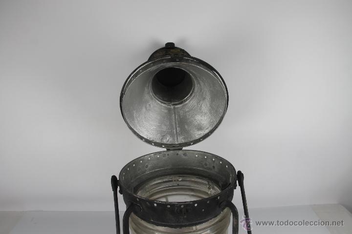 Antigüedades: FAROL MARITIMO DE POSICION. RECONVERTIDO EN LAMPARA. SEAHORSE TRADE MARK. GB. 7593. S XIX- XX. - Foto 8 - 41901713