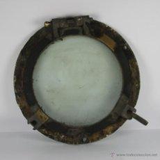 Antigüedades: OJO DE BUEY NAVAL EN BRONCE Y CRISTAL. PRINC S. XX.. Lote 41902573