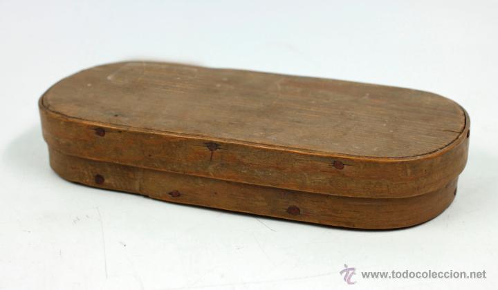 Antigüedades: BALANZAS DE PRECISIÓN Y PESAS ANTIGUAS EN ESTUCHE DE 16,7 CM DE LARGO. - Foto 2 - 42046647