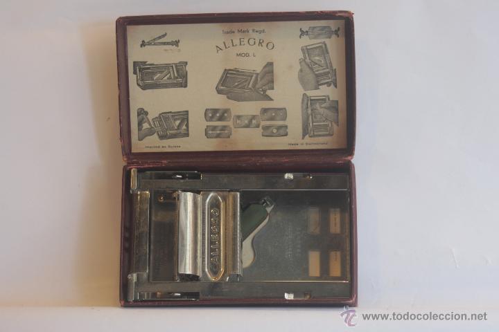 AFILADOR DE CUCHILLAS DE AFEITAR MARCA ALLEGRO (Antigüedades - Técnicas - Barbería - Varios Barbería Antiguas)
