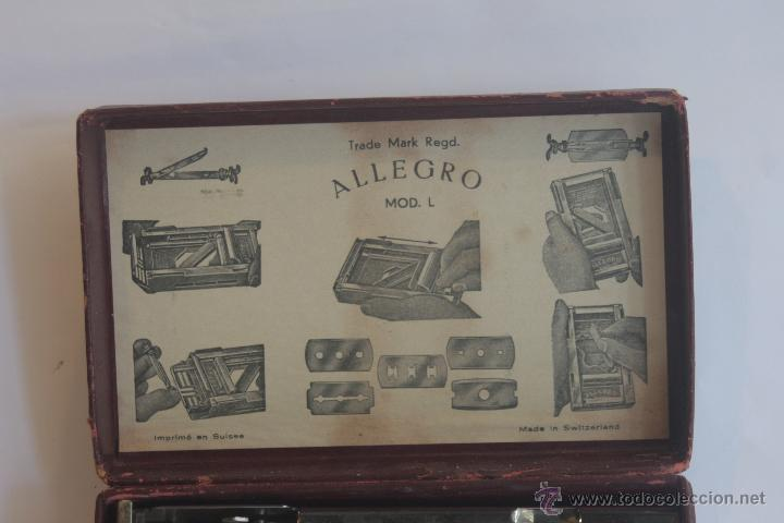 Antigüedades: AFILADOR DE CUCHILLAS DE AFEITAR MARCA ALLEGRO - Foto 7 - 42102249