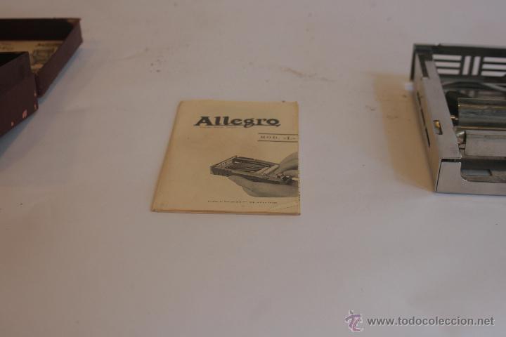 Antigüedades: AFILADOR DE CUCHILLAS DE AFEITAR MARCA ALLEGRO - Foto 9 - 42102249