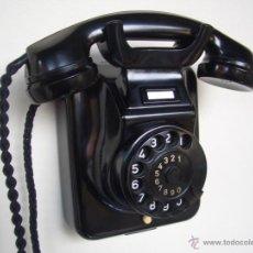 Teléfonos: TELÉFONO ANTIGUO SIEMENS AÑOS 50 CONVERTIBLE EN BAQUELITA, 100% ORIGINAL. ADAPTADO A FIBRA ÓPTICA.. Lote 68714245