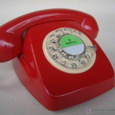 Teléfonos: TELÉFONO ANTIGUO ROJO AÑOS 70 ESPAÑOL 100% ORIGINAL. ADAPTADO A FIBRA ÓPTICA.. Lote 59092017