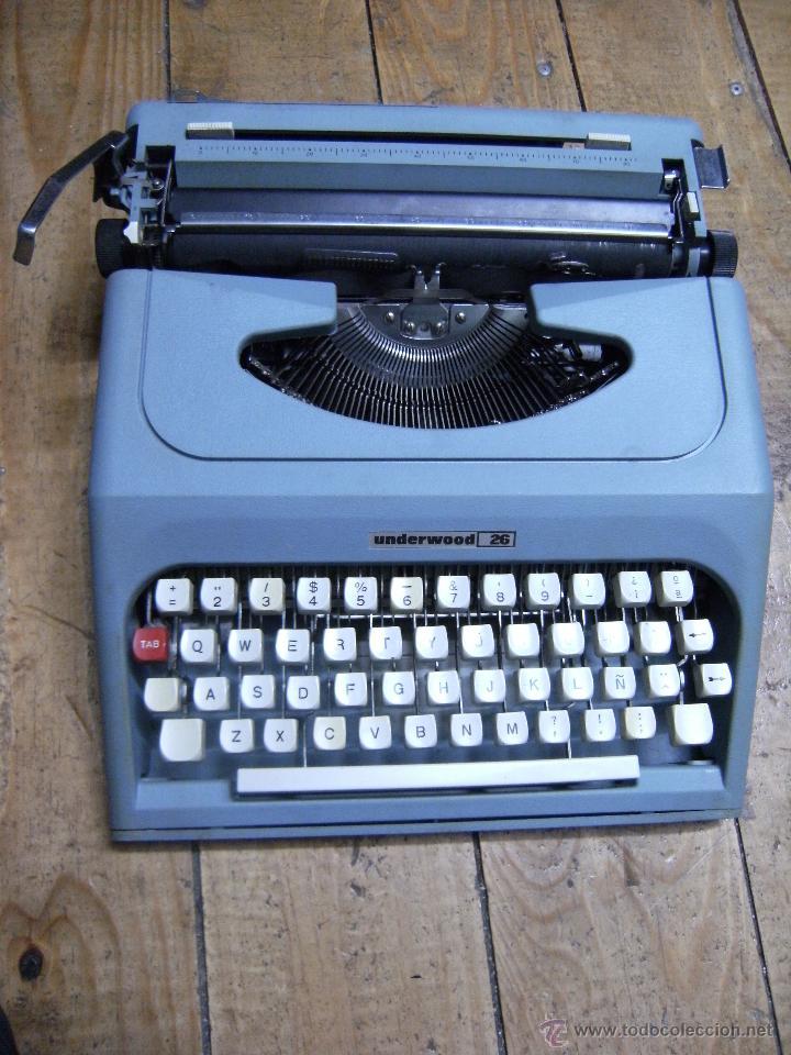 Antigüedades: Máquina de escribir Underwood 26 - Foto 2 - 42195172