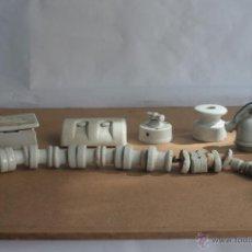 Antigüedades: LOTE ELECTRICIDAD DE CERAMICA/PORCELANA. Lote 42279416