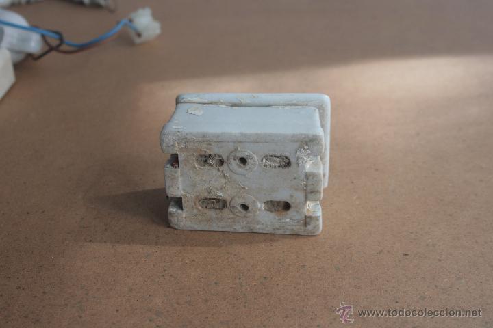 Antigüedades: LOTE ELECTRICIDAD DE CERAMICA/PORCELANA - Foto 12 - 42279416