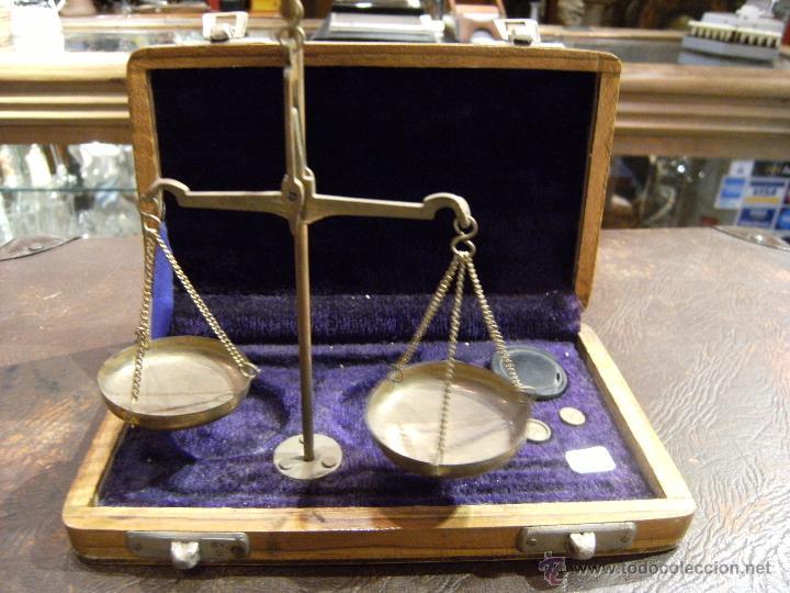BALANZA DE PRECISIÓN (Antigüedades - Técnicas - Medidas de Peso - Balanzas Antiguas)