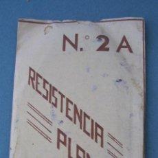 Antigüedades: RESISTENCIA DE PLANCHA ELECTRICA, Nº2A - EN SU SOBRE (13X7CM APROX, SOBRE AGUJEREADO Y CON ROTOS). Lote 42308427