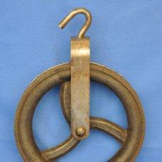 Antigüedades: GARRUCHA O POLEA DE HIERRO.. Lote 53226927
