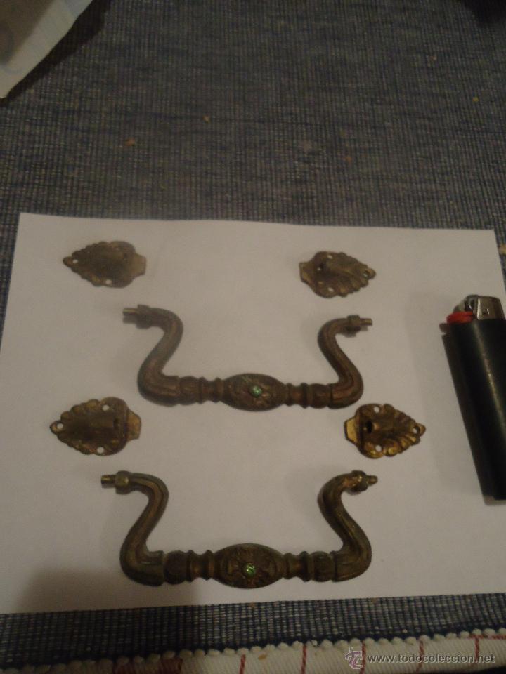 Antigüedades: 2 tiradores en bronce - Foto 3 - 42439967
