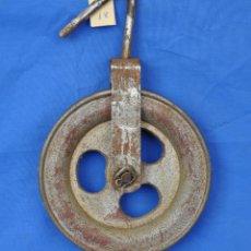Antigüedades: GARRUCHA O POLEA DE HIERRO. Nº18. Lote 42461177
