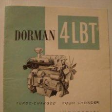 Antigüedades: CATÁLOGO PUBLICIDAD DORMAN 4LBT INDUSTRIAL DIESEL ENGINE (INGLATERRA, AÑOS 60). MOTORES INDUSTRIALES. Lote 42483982