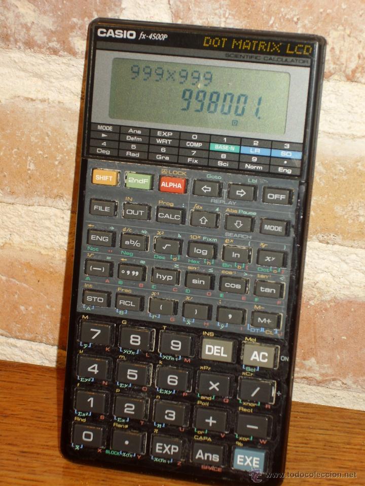CASIO FX 4500 P CALCULADORA CALCULATOR VINTAGE CIENTIFICA SCIENTIFIC RETRO (Antigüedades - Técnicas - Aparatos de Cálculo - Calculadoras Antiguas)