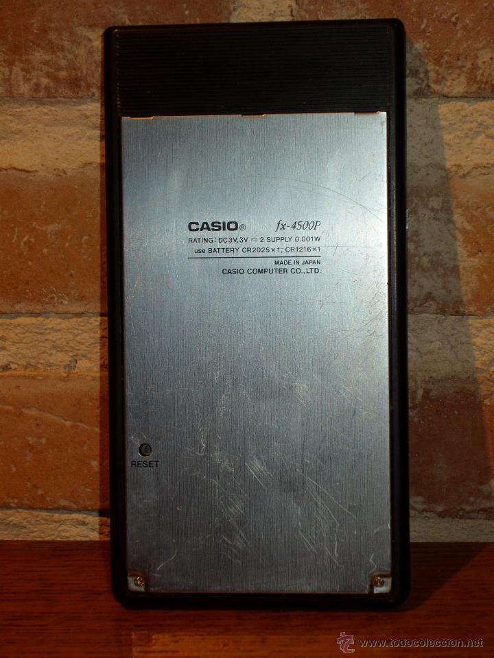 Antigüedades: CASIO FX 4500 P CALCULADORA CALCULATOR VINTAGE CIENTIFICA Scientific retro - Foto 5 - 143947126