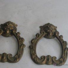 Antigüedades: TIRADORES ANTIGUOS EN BRONCE. Lote 42520618