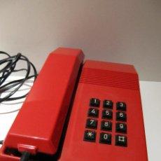 Teléfonos: TELEFONO ROJO TECLAS ALCATEL - TELEFONICA MOD. TEIDE AÑOS 80 RETRO. Lote 124250483