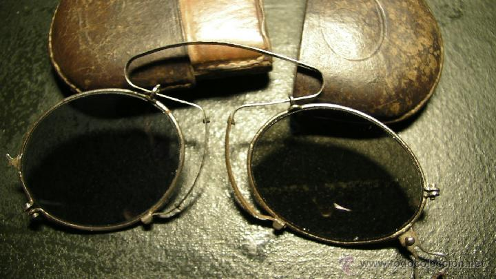 Antigüedades: GAFAS DE SOL PLEGABLES CON FUNDA DE PIEL - Foto 3 - 42564790