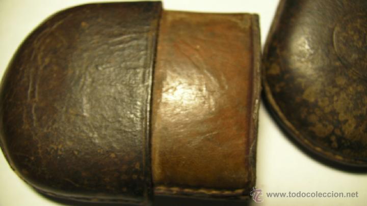 Antigüedades: GAFAS DE SOL PLEGABLES CON FUNDA DE PIEL - Foto 5 - 42564790