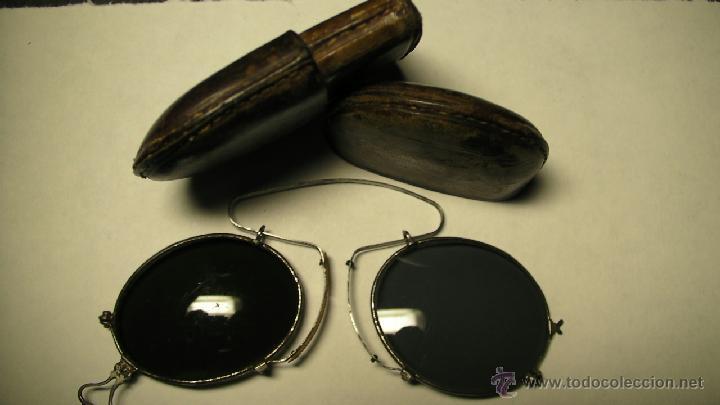 Antigüedades: GAFAS DE SOL PLEGABLES CON FUNDA DE PIEL - Foto 7 - 42564790