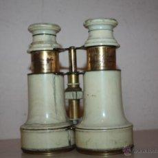 Antigüedades: PRISMATICOS ANTIGUOS DE METAL Y MARFIL. Lote 42599697