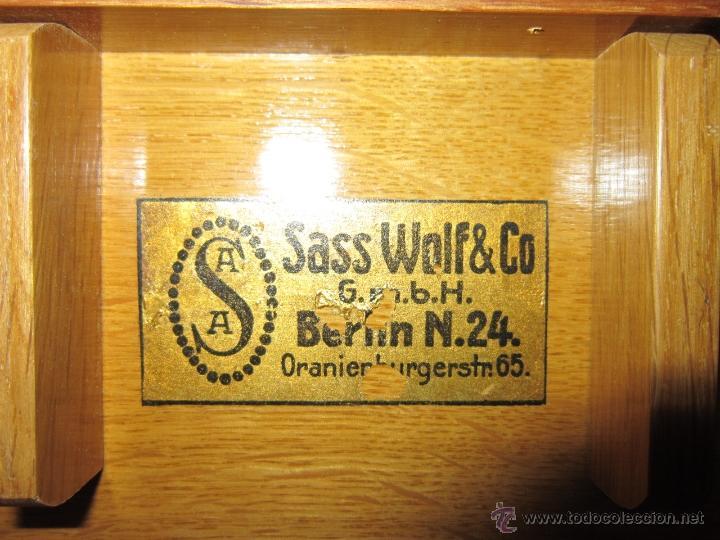 Antigüedades: Caja de madera con material médico Sass Wolf & CO. G.m.b.H. Berlin. - Foto 4 - 42607855