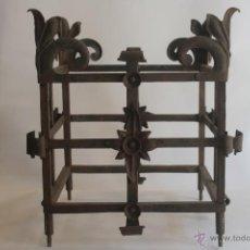 Antigüedades: ANTIGUO MACETERO DE HIERRO FORJADO. Lote 42609541