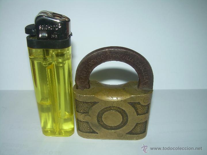 Antigüedades: ANTIGUO Y BONITO CANDADO DE BRONCE..EAGLELOCKCO...TERRYVILLE..CONN. USA...FINALES XIX. PRINC. XX. - Foto 5 - 42647413