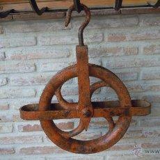 Antigüedades: GARRUCHA MUY GRANDE ANTIGUA PRECIOSA DE HIERRO EN PARTE FORJADA EN MUY MUY BONITA.. Lote 42671984