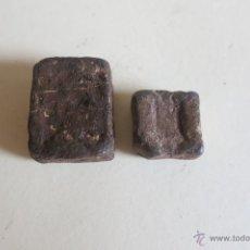 Antigüedades: 2 PONDERALES O PESAS DE PLOMO. Lote 42673506