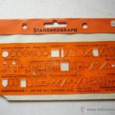 Oggetti Antichi: REGLA O PLANTILLA DE STANDARDGRAPH. Nº 7385. Lote 42677712