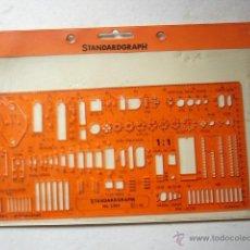Oggetti Antichi: REGLA O PLANTILLA DE STANDARDGRAPH. Nº 3361.. Lote 42677812