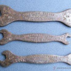 Antigüedades: 3 MINI LLAVES DE TUERCA TERRY´S SPANNERS, FABRICADO POR BA BRITISH AIRWAYS, NºS 1/3 , 5/7 , 4/6. Lote 42691038