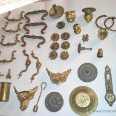 Antigüedades: LOTE VARIADO, TIRADORES Y DEMAS PIEZAS. -METAL, LOTON Y HIERRO + DE 1,5 KG - MAS DE 40 PIEZAS.. Lote 42700839