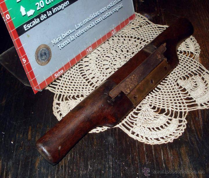 Antigüedades: Antiguo Bastren de Luthier ajustable base bronce y madera dura Circa 1930 - Foto 3 - 42708490