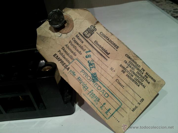 Antigüedades: antiguo contador de luz muy buen estado - Foto 6 - 42710140