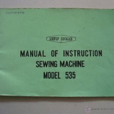 Antigüedades: MANUAL DE INSTRUCCIONES MAQUINA DE COSER NEW HOME 535, EN INGLES, AÑOS 60. Lote 42729417