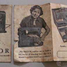 Antigüedades: MANUAL DE INSTRUCCIONES MAQUINA DE COSER FRIDOR, EN INGLES, AÑOS 60. Lote 42729633