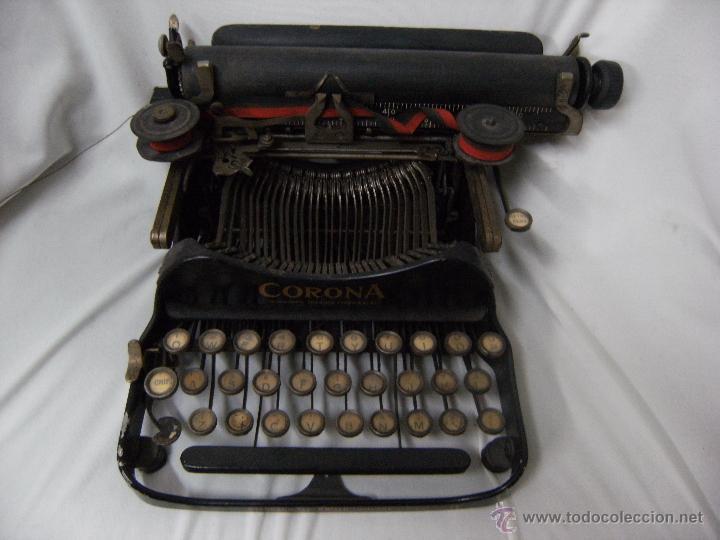 MÁQUINA DE ESCRIBIR PLEGABLE SMITH-CORONA. AÑO 1917 (Antigüedades - Técnicas - Máquinas de Escribir Antiguas - Smith)