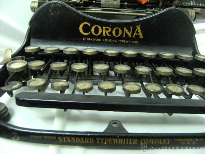 Antigüedades: máquina de escribir plegable Smith-Corona. Año 1917 - Foto 2 - 42786506