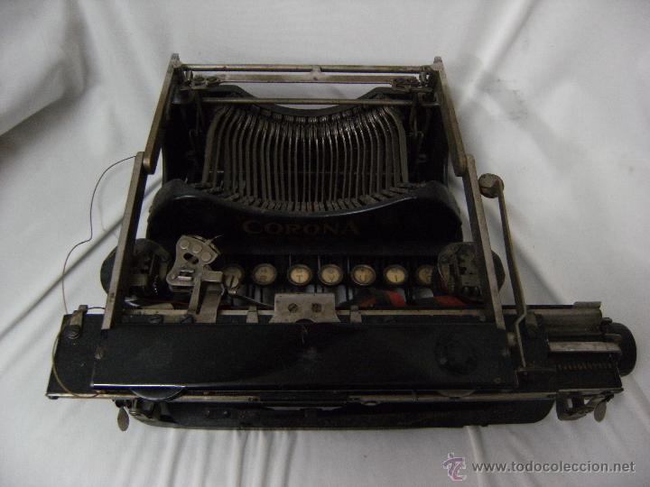 Antigüedades: máquina de escribir plegable Smith-Corona. Año 1917 - Foto 3 - 42786506