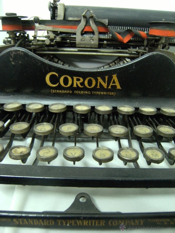 Antigüedades: máquina de escribir plegable Smith-Corona. Año 1917 - Foto 4 - 42786506