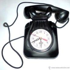Teléfonos: TELÉFONO DE BAQUELITA, FUNCIONANDO, CON ESFERA DE RELOJ ISABELINA. Lote 53550342
