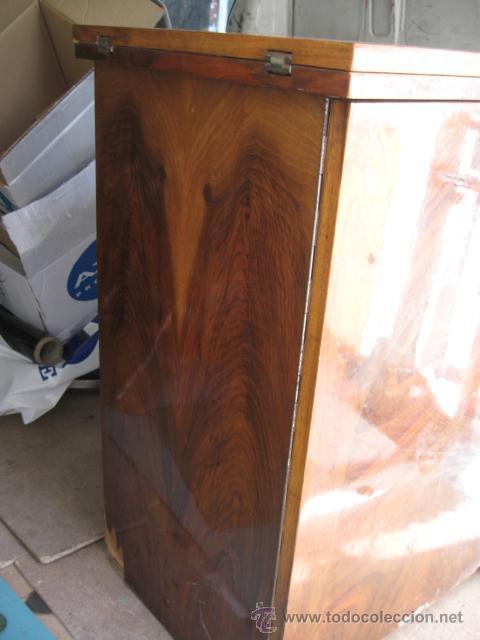 Antigüedades: Maquina de coser sigma - Estarta y ecenarro Egoibar - con mueble de madera- con caja repuestos - Foto 3 - 42799195