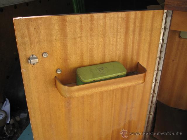 Antigüedades: Maquina de coser sigma - Estarta y ecenarro Egoibar - con mueble de madera- con caja repuestos - Foto 4 - 42799195