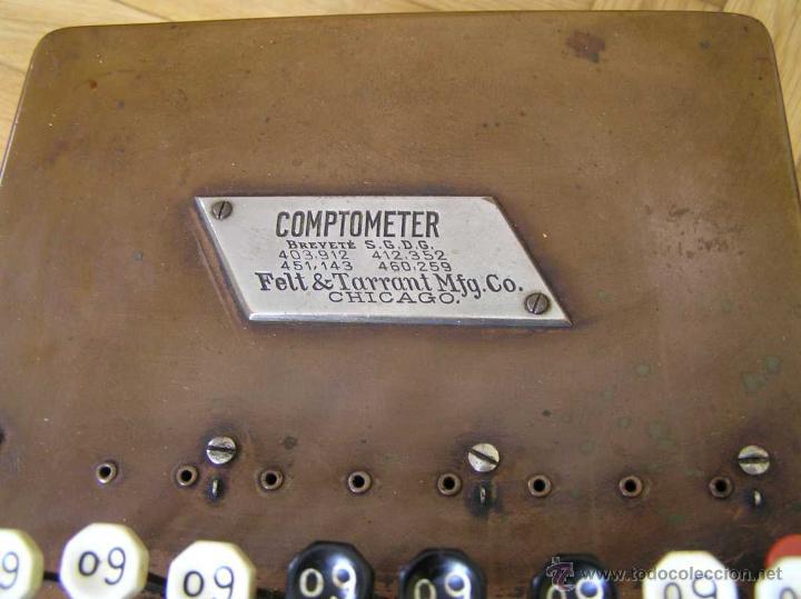 Antigüedades: ANTIGUA CALCULADORA COMPTOMETER FELT & TARRANT MFG. CO CHICAGO DE LOS AÑOS 20 COMPTOMETRO CALCULATOR - Foto 7 - 42802627