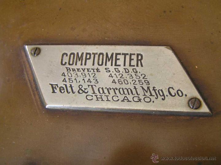 Antigüedades: ANTIGUA CALCULADORA COMPTOMETER FELT & TARRANT MFG. CO CHICAGO DE LOS AÑOS 20 COMPTOMETRO CALCULATOR - Foto 8 - 42802627