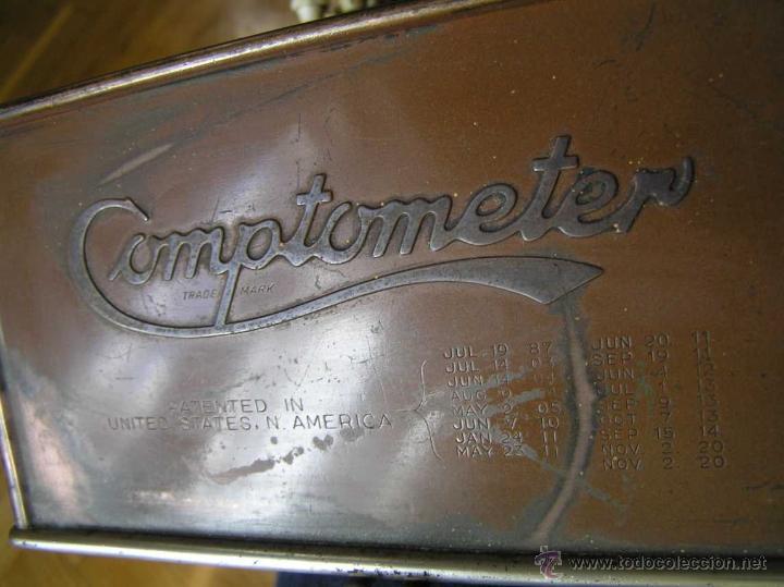 Antigüedades: ANTIGUA CALCULADORA COMPTOMETER FELT & TARRANT MFG. CO CHICAGO DE LOS AÑOS 20 COMPTOMETRO CALCULATOR - Foto 31 - 42802627
